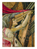 Detail of Angels from the Altarpiece of San Barnaba Premium Giclee Print by Sandro Botticelli