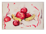 Still Life with Apples and Bananas, C.1925 (W/C and Graphite Pencil on Wove Paper) Premium Giclee Print by Charles Demuth