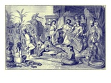 Manners and Customs of Later Greece - a Festive Household Giclee Print by  English