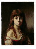 The Artist's Daughter, 1884 (See also 65310) Giclee Print by Alexei Alexevich Harlamoff