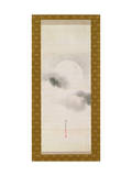 Hanging Scroll Depicting the Autumnal Moon, from a Triptych of the Three Seasons, Japanese Giclee Print by Sakai Hoitsu