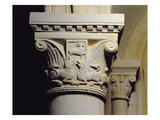 Column Capital Bearing Symmetrically Arranged Dog-Like Beasts, from the Hemicycle Choir Reproduction procédé giclée