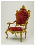 Armchair, 1730-40 (Walnut) Giclee Print by Antonio Corradini