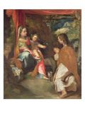 Madonna of San Giovannino with John the Evangelist Giclee Print by Federico Fiori Barocci or Baroccio