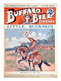 Little Buckskin, Cover Illustration from 'Buffalo Bill Library', C.1920 (Colour Litho) Giclee Print by  American
