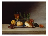 Still Life with a Wine Glass, 1818 (Oil on Panel) Giclee Print by Raphaelle Peale
