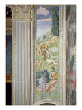Shepherd and His Flock, Panel Alongside the Right Wall of the Journey of the Magi Cycle in Chapel Giclee Print by Benozzo di Lese di Sandro Gozzoli