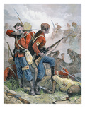 At Bay', British Soldiers During the Second Anglo-Afghan War, 1880 (Colour Litho) Giclee Print by William Heysham Overend
