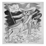 Calavera Zapatista, C.1910 (Engraving) Giclee Print by Jose Guadalupe Posada