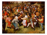 The Wedding Dance, C.1566 (Oil on Panel) Premium Giclée-tryk af Pieter Bruegel the Elder