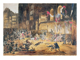 Attempt on the Life of Napoleon Iii and His Wife Eugenie by Felice Orsini and Three Accomplices Giclee Print by  French