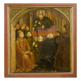 Saint Ambrose Preaching in Milan, Form the 'Altarpiece of Saint Augustine', C.1480 (Oil on Panel) Giclee Print by  German