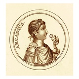 Arcadius, Illustration from 'The Universal Historical Dictionary' by George Crabb, Published 1825 Giclee Print by  English