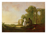 Uncle Tom and Little Eva, 1853 (Oil on Canvas) Giclee Print by Robert Scott Duncanson