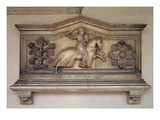 Front Section of the Sarcophagus of Guglielmo Berardi Da Narbona Giclee Print