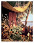 The First Mass Held in the Americas Giclee Print by Pharamond Blanchard