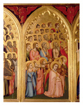 Angels from the Coronation of the Virgin Polyptych (Far Left Panel) (See also 66540-66551) Giclee Print by Ambrogio Bondone Giotto
