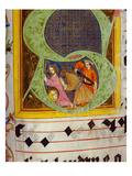 Historiated Initial 'S' with the Decollation of Saint John the Baptist Giclee Print by  German