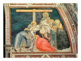 Deposition, C.1320 (Fresco) Giclée-tryk af Pietro Lorenzetti