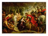 The Meeting of David and Abigail, 1625-28 Giclee Print by Peter Paul Rubens