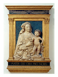 Madonna and Child, C.1470 (Glazed Terracotta) (Also See 428020) Gicle-tryk af Andrea del Verrocchio