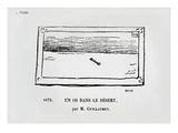 "A Bone in the Desert, Caricature of a Painting ""The Desert"" by Gustave Guillaumet Giclee Print by Charles Albert d'Arnoux Bertall"