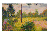 Barbizon Forest (Oil on Panel) Giclee Print by Georges Seurat