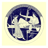Dancing Girl and Feasting Youth, Illustration from 'Greek Vase Paintings' Giclee Print by  English