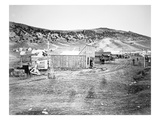 Hell on Wheels' Town in Bear River, Nebraska, 1860S (B/W Photo) Giclee Print by  American Photographer