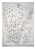 Plan of New York in 1729 (Litho) Giclee Print by  English