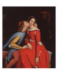 Francesca Da Rimini and Paolo Malatesta, 1819 Giclee Print by Jean-Auguste-Dominique Ingres