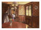 Interior with Woman at the Piano Reproduction procédé giclée par Felix Edouard Vallotton