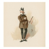 Mr. Micawber, Illustration from 'Character Sketches from Charles Dickens', C.1890 (Colour Litho) Giclee Print by Joseph Clayton Clarke
