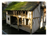 Laundry House on the River Loir (Photo) Giclee Print