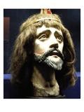 Head of Christ (Wood and Human Hair) Giclee Print by  Brazilian