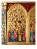 Angels from the Coronation of the Virgin Polyptych (Middle Left Panel) (See also 66540-66551) Giclee Print by Ambrogio Bondone Giotto