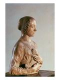 Woman with a Bouquet, C.1475-80 (Marble) Giclée-tryk af Andrea del Verrocchio