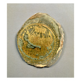 Medallion Depicting Jonah and the Whale, Roman, 4th Century (Stone and Gold) Giclee Print