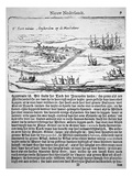 New Amsterdam in 1655, the Oldest known View of Fort Nieuw Amsterdam Giclee Print by  Dutch