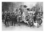 Members of the Right-Wing Freikorps Armed with Flamethrower and Supported by an Armoured Car, 1919 Giclee Print by  German photographer