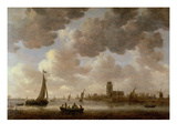 View of Dordrecht Downstream from the Grote Kerk, 1647 (Oil on Panel) Giclee Print by Jan Josephsz. Van Goyen
