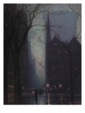 Fifth Avenue at Twilight, C.1910 (Oil on Canvas) Giclee Print by Lowell Birge Harrison