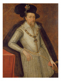 James I of England, and Vi of Scotland Giclee Print by John de, the Elder Critz