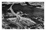 Hitler's New Autobahn System (B/W Photo) Giclee Print by  German photographer