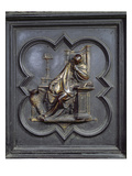 St John the Evangelist, Panel a of the North Doors of the Baptistery of San Giovanni, 1403-24 Giclée-tryk af Lorenzo Ghiberti