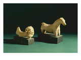 Terracotta Lion and Horse, Mohenjodaro 2300-1750 Bc Giclee Print