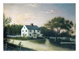 The Artist&#39;s Family House, C.1859 (Oil on Canvas) Reproduction proc&#233;d&#233; gicl&#233;e par Mary Blood Mellen