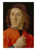 Young Man (Oil on Panel) Giclée-tryk af Domenico Ghirlandaio