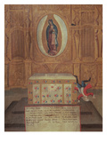 Ex-Voto Dedicated to the Virgin of Guadelupe (Oil on Wood) Giclee Print by  Mexican