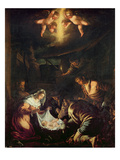 The Adoration of the Shepherds (Oil on Canvas) Giclee Print by Jacopo Bassano